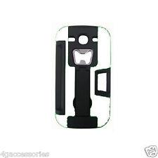 White Samsung Hard i9300 Soft outer Shell Case bottle opener debit card wallet