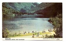 Echo Lake Franconia Notch Postcard New Hampshire Swimming Fishing Boating