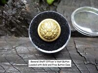 Old Rare Vintage Antique Civil War Relic General Staff Officer's Vest Button