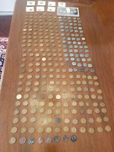 Collection lot of 290 USA Lincoln Wheat Pennies & steel cents 1943, 1909 - 2009