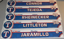 Lot Of 5 TEXAS RANGERS Game Used Locker Room Tags Nameplates Tejeda Connor