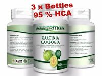 3 x BOTTLES 180 Capsules 3000mg Daily GARCINIA CAMBOGIA HCA 95% Weight Loss Diet