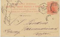 "GB LATE FEE ""L1 / LONDON / 75"" rare Duplex Postmark (No. 75 Dubus Type 15) PS"