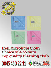 Microfibre Exel Cleaning Soft Cloths Wash Towels (Green/Blue/Pink/Yellow)
