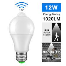 LED Motion Sensor Bulb Motion Detector 12W 6000K Light Lamp Bulb White
