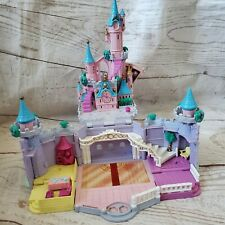 1995 Cinderella Polly Pocket Castle Bluebird Disney Folds Hiding Glass Slipper