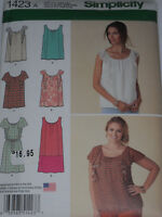 Mini Dress and Top Misses size XXS-XXL Simplicity 1423 Sewing Pattern