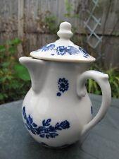 Antique Rare 18th Blue & White Chocolate Jug café au lait Tournai ? 12cm