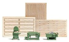 HO 1:87 Busch 7850 Woodworking Machinery ( Saws & Planer ) with Real Wood Boards