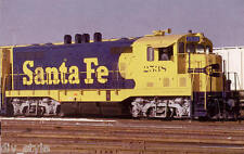 Santa Fe CF7 (rebuilt F7) locomotive  train railroad postcard Yellowbonnet