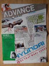 HYUNDAI RANGE 1988 UK Mkt broadsheet brochure - Pony Sonata Ebony Ivory