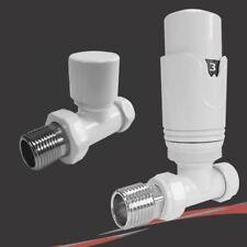Thermostat-Weiß Gerade Ventil-Set für Heizkörper und Handtuchhalter