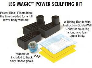 Genuine Leg Magic Spare Part Higher Leg Risers + Pedometer + Resistance Band
