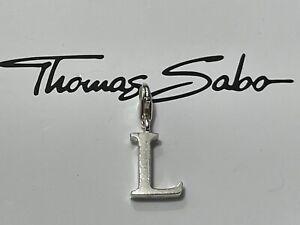 Genuine Thomas Sabo Charm Club 925 Silver Letter L Initial Alphabet Charm & Box