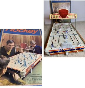 Vtg 1950's ALL STAR CANADIAN HOCKEY Table Top GAME SEARS W/ BOX Great Shape