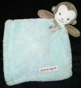 Blankets And & Beyond Mint Green MONKEY Security Lovey Fleece Soft Soother