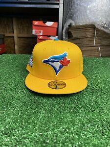 New Era Toronto Blue Jays 40th Season Yellow 5950 Fitted Aqua Undervisor