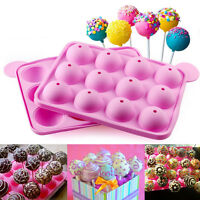 Cake Cookie Chocolate Silicone Lollipop Pop Mold Mould Baking Tray Stick New PR