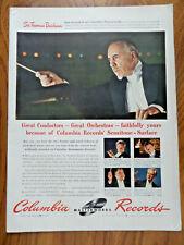 1942 Columbia Records Ad Conductors Beecham Reiner Walter 1942 Zerex Anti-Freeze