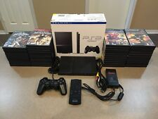 Huge Lot Sony PlayStation 2 PS2 Slim Edition Black Console System with games