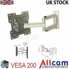 "Lcd107 Ménsula de 19 "" -37"" LCD TV Wall Mount Bracket brazos giratorios inclinación VESA 200"