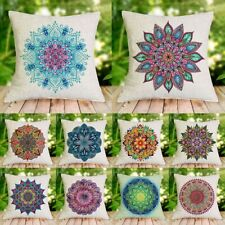 18'' Ethnic Mandala Cotton Linen Throw Cushion Cover Pillow Case Home Sofa Decor