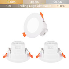 Luce Plafon Foco LED Downlight Empotrable de Techo Regulable 5W IP44 Baño