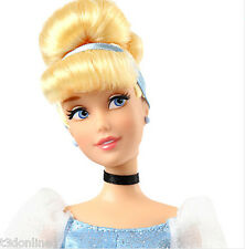 "GENUINE DISNEY PRINCESS CINDERELLA CLASSIC DOLL 30cm (12"") GLITTER GOWN TOY"