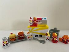 Shopkins Food Fair Fast Food Playset- 100% complete w/ 8 exclusive Figures