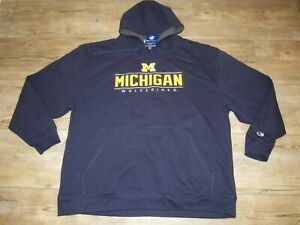 Champion Michigan Wolverines Hoodie Jacket Embroidered Twill Logo size Men's 2XL