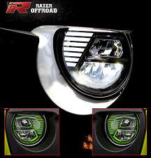 Rock Crawler Green LED Headlight DRL+Hi+Lo Beam+Cree for 07-17 Jeep JK Wrangler