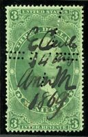 USA REVENUE R86c USED WITH EXTRA ROWS OF PRIVATE PERFS