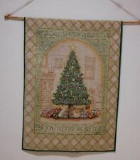 Christmas Tapestry Wall Hanging Decoration JOY TO THE WORLD Dan Morris