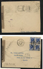 Netheralnds  Indies   cover  with overprinted stamps  1947      KL0219