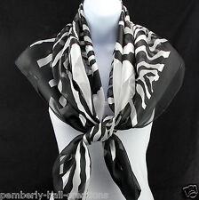 "Zebra Stripes Womens Scarf 40"" Square Animal Print Stripes Fashion Scarves New"