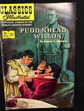 Classics Illustrated #93 Pudd'nhead Wilson by Sam Clemens (Hrn 94) 1st 1952 Vg+