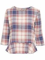 44/11 NEU ONLY Damen Hemd Bluse Tunika onlEVERETT 3/4 TOP WVN karo Gr. 38