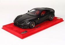 FERRARI 812 SUPERFAST NERO OPACO P18147MB3 BBR LIMITED EDITION 16 Pc SCALE 1/18