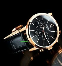 Ingersoll Men's Portland Collection Rose Gold IP Quartz Chronograph Luxury Watch