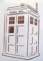 Doctor Who Tardis Stencil Reusable 10 mil Mylar Stencil