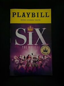 SIX The Musical 2021 Broadway OPENING NIGHT Playbill. Samantha Pauly, STICKER