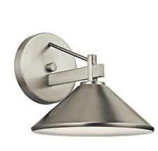 """Kichler 49059 Brushed Nickel Ripley Collection 1-Light 8"""" Outdoor Wall Light"""
