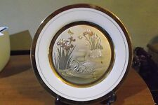 art of chokin swan plate