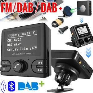 Auto KFZ DAB/DAB+ Empfänger Digital Radio Adapter Bluetooth FM Transmitter USB