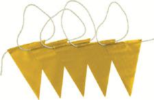 Prosafe SAFETY BUNTING FLAG 30m Roll, White Nylon Rope, UV Stabilised YELLOW