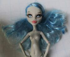 Monster High GHOULIA GHOULA YELPS BLUE Hair DEAD TIRED Nude 1st Wave 1~for OOAK