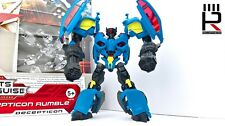 2012 Hasbro Transformers Prime Deluxe RUMBLE : COMPLETE + CARD & INSTRUCTIONS