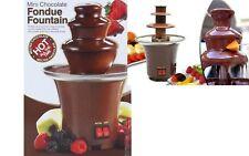 mini fontana di cioccolata elettrica per lavorzione e fonduta ciococcolata