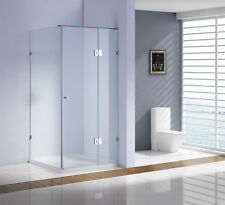 900 x 900x2000mm Frameless 10mm Glass Shower Screen With base