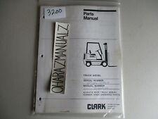 Clark Forklift GP138MC Parts Manual